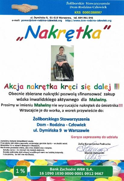 Plakat promujący akcję Nakrętka