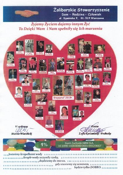 Podziękowania ze zdjęciami osób, które otrzymały pomoc z akcji Nakrętka