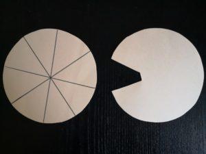 zdjęcie dwóch papierowych kół