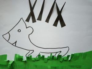 zdjęcie papierowego jeża