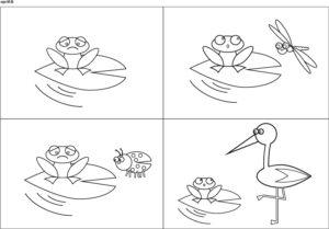 historyjka obrazkowa o żabce