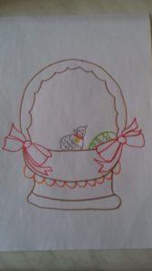 zdjęcie rysunku koszyczka wielkanocnego