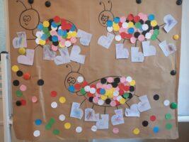 Praca plastyczna wykonana przez dzieci - Mrówki