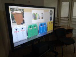 Zdjęcie prezentacji multimedialnej o segregacji śmieci