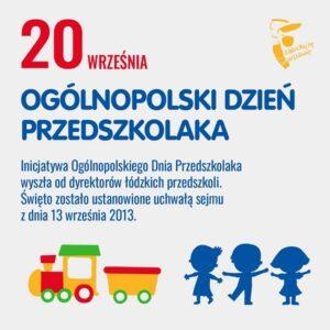 Plakat pt. 20 września Ogólnopolski Dzień Przedszkolaka