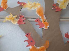 Zdjęcie prac dzieci - wiewiórki