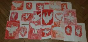 zdjęcie prac dzieci - Orzeł Biały