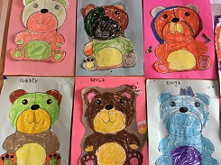 zdjęcie prac plastycznych dzieci
