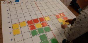 Dzieci kodujące na macie do kodowania