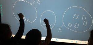 zdjęcie dzieci przy monitorze