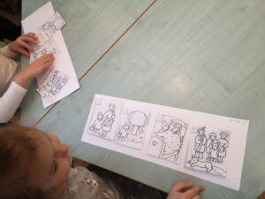 zdjęcie dziecka przy stole