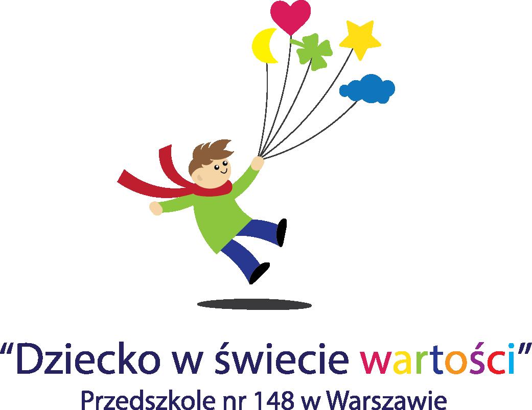 Logo programu Dziecko w świecie wartości, realizowanego w Przedszkolu nr 148 w Warszawie