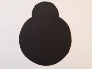 małe czarne koło nałożone do połowy na duże czarne