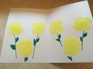 praca plastyczna. Żółte kwiatki